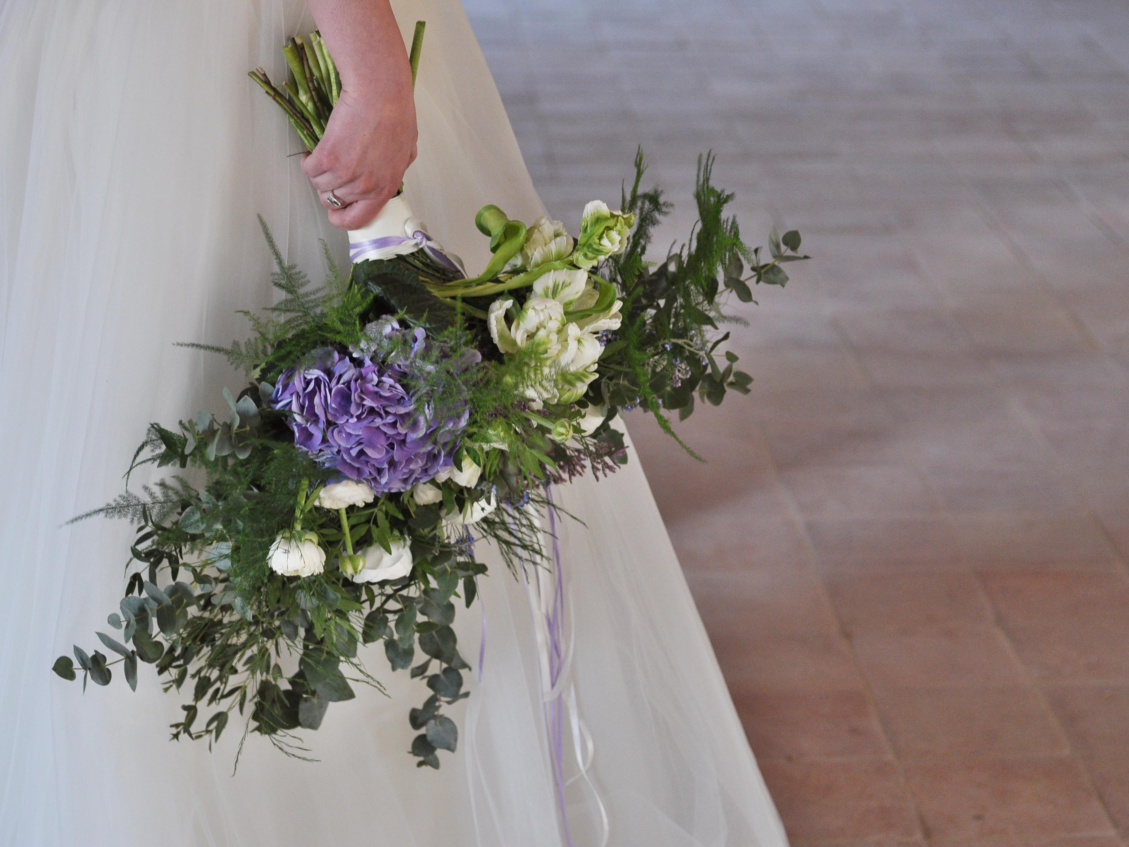 Bohémská svatební kytice